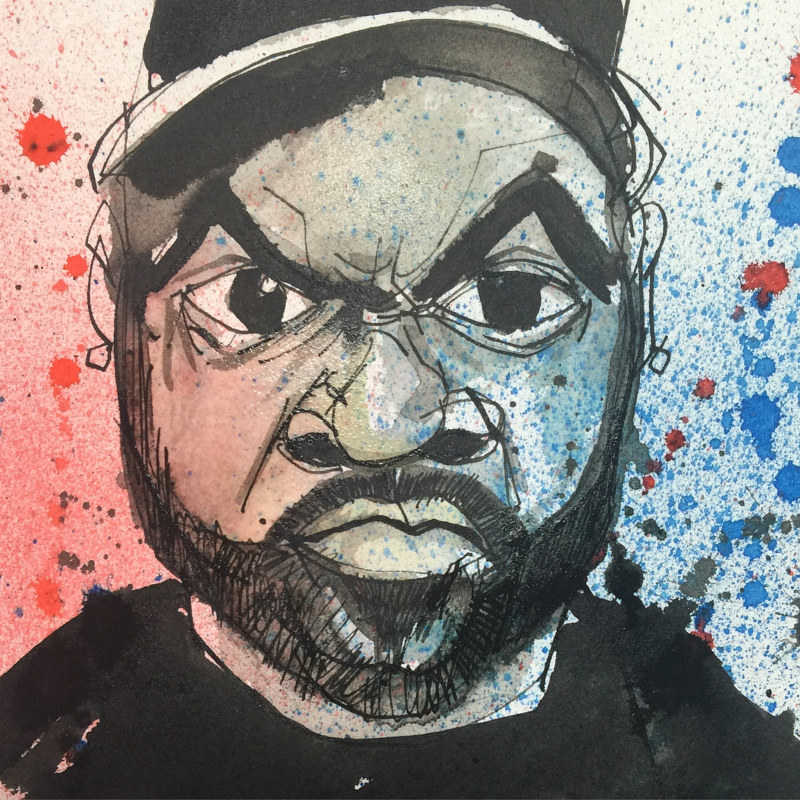 Drawing icecube by Joey Feldman