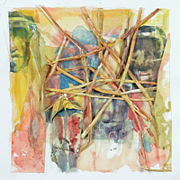Watercolor Songlines 9 by Boudewijn Korsmit