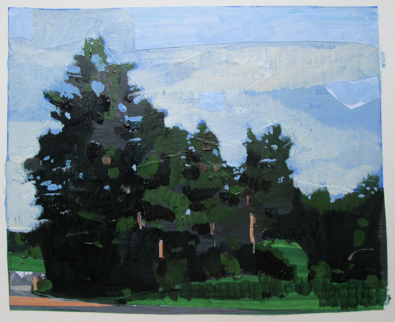 Acrylic painting Evening Stand, July 28 by Harry Stooshinoff