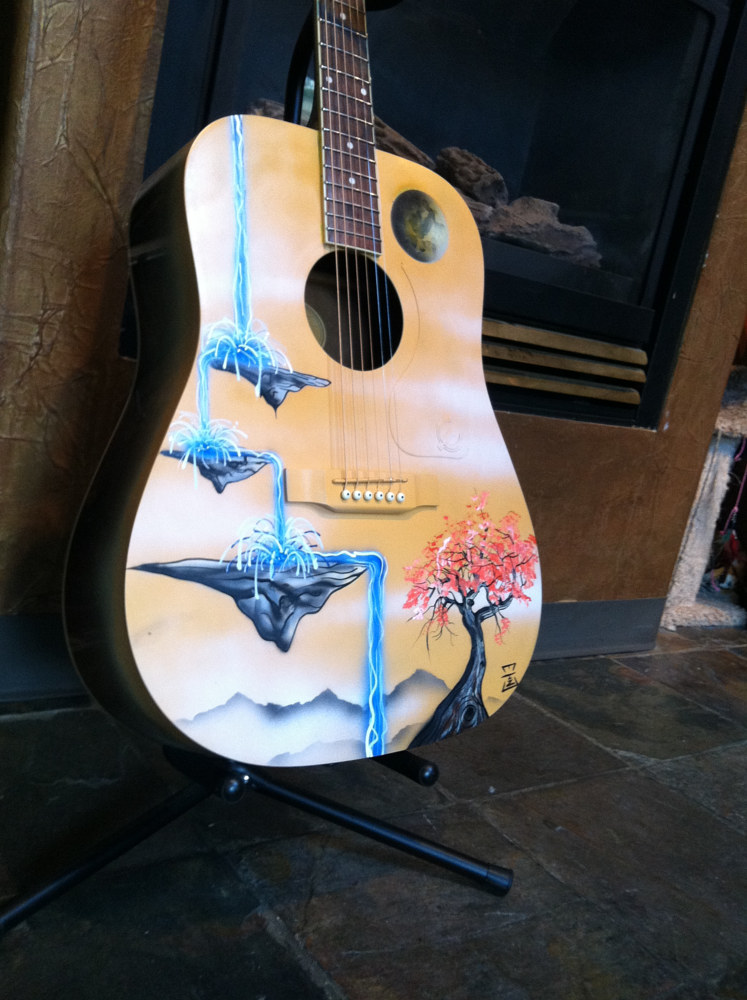 Custom Guitar by Isaac Carpenter