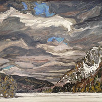 Oil painting Winter Lake by Edward Miller
