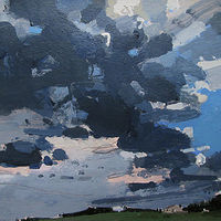 Acrylic painting Storm Over Little House by Harry Stooshinoff
