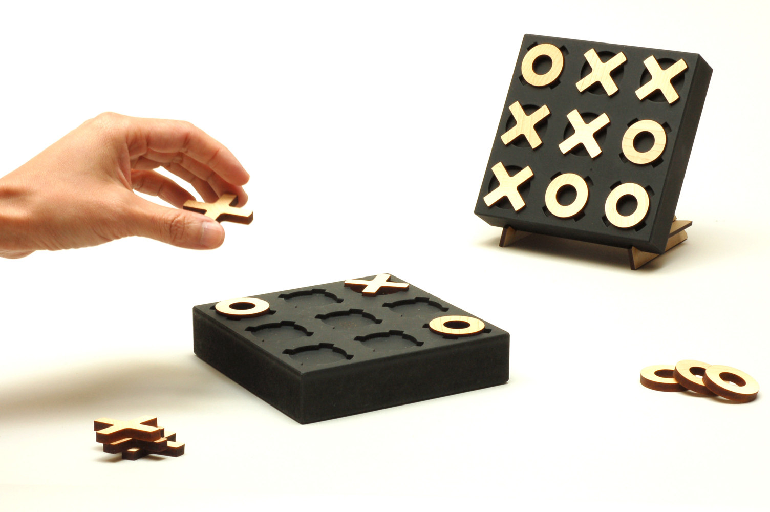 Tic Tac Toe, Black, Game Series by Wan-yi Lin