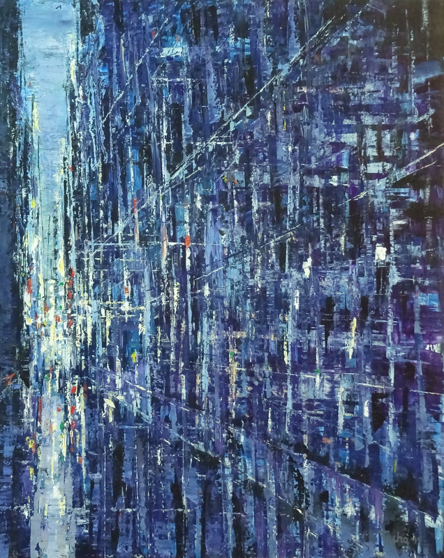 Acrylic painting Urban Rhapsody #21  by David Tycho