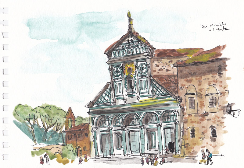 Drawing San Miniato al Monte by Graham Hall
