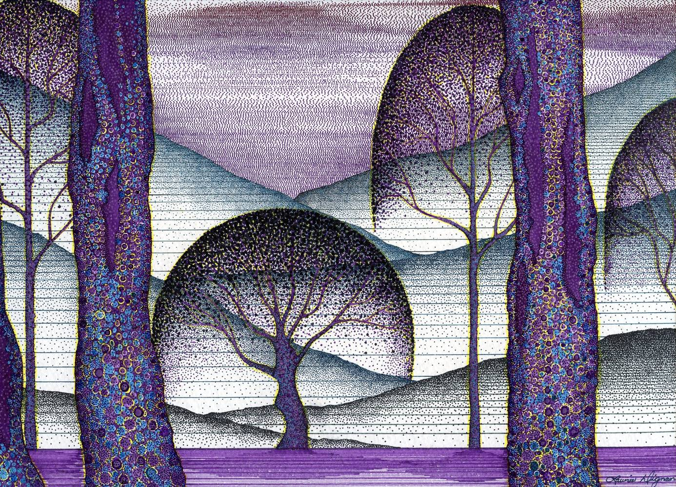 Drawing Amythest Forest  by Lawrie  Dignan