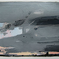 Acrylic painting North Sky, Dusk, August 15 by Harry Stooshinoff