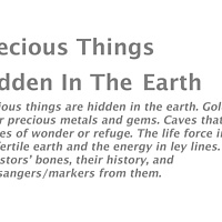About the 'Precious Things Hidden In The Earth' series... by Lori Sokoluk