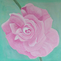 Acrylic painting The Climbing Pink Rose by Gwenda Branjerdporn