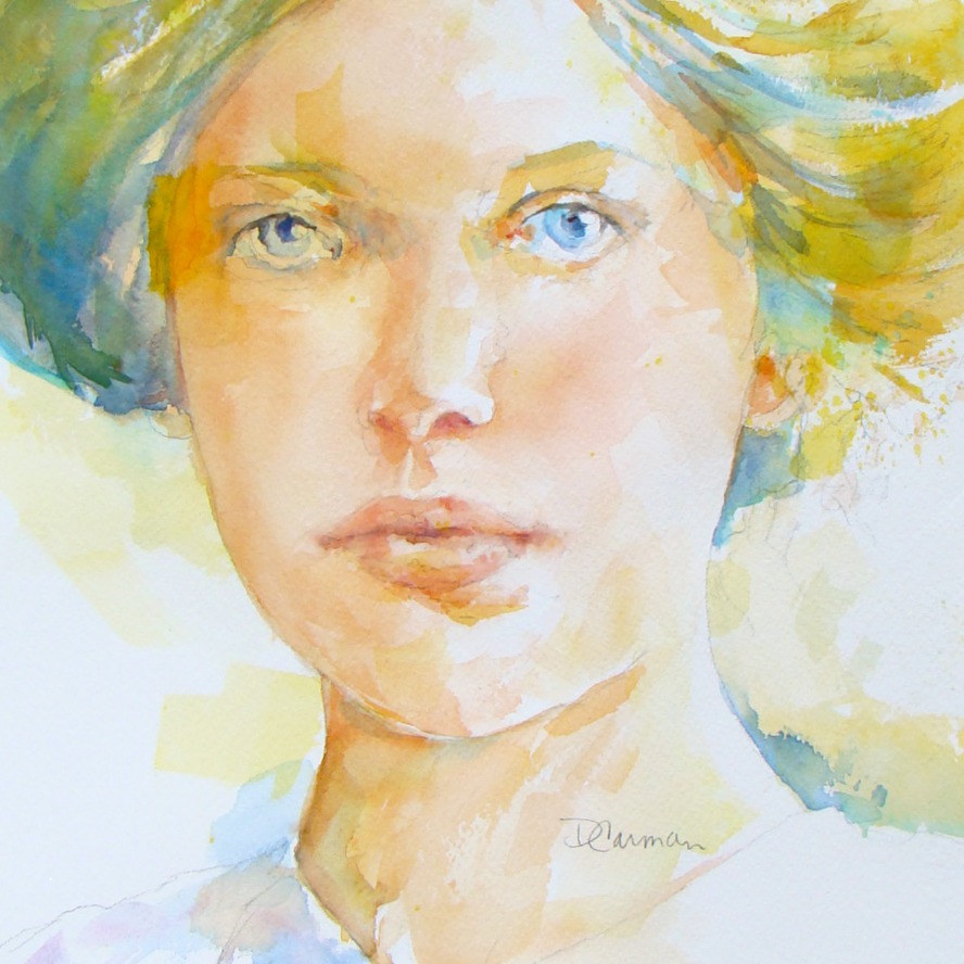 Watercolor Sophie by Deborah Carman