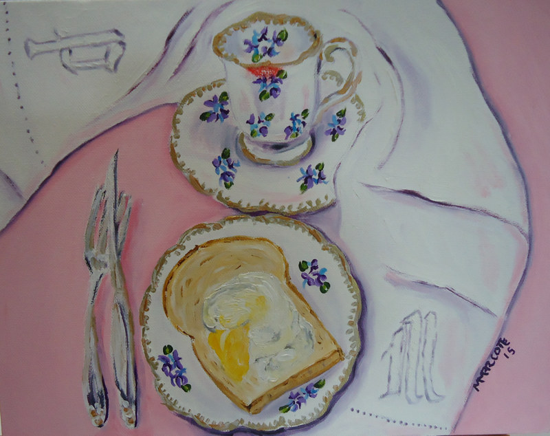 Oil painting Dieting with Mom  by Michelle Marcotte