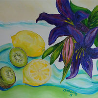 Oil painting Tropical Fruit  by Michelle Marcotte