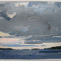 Acrylic painting Evening Shore by Harry Stooshinoff