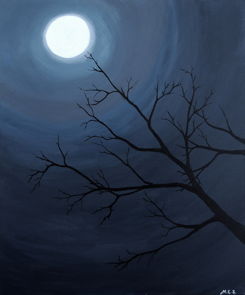 Acrylic painting Let the Night Surround You, 2  by Meghan Sims