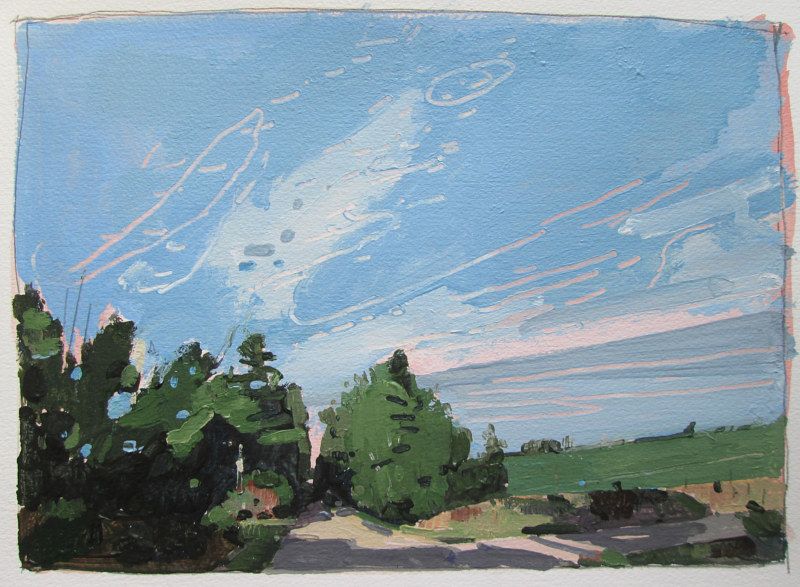 Acrylic painting Last Light, September 22 by Harry Stooshinoff
