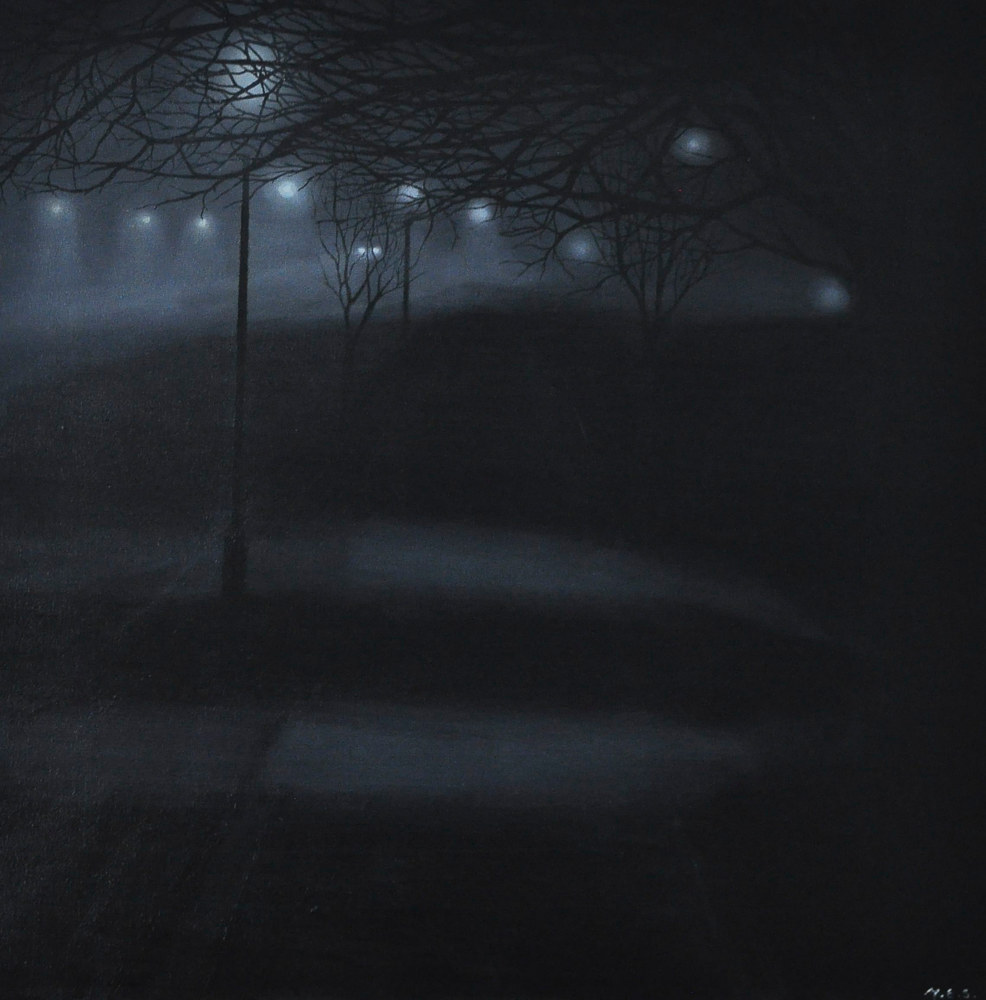 Oil painting Early Morning Fog by Meghan Sims
