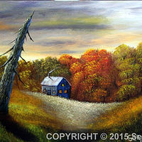Acrylic painting Autumn Wood by George Servais