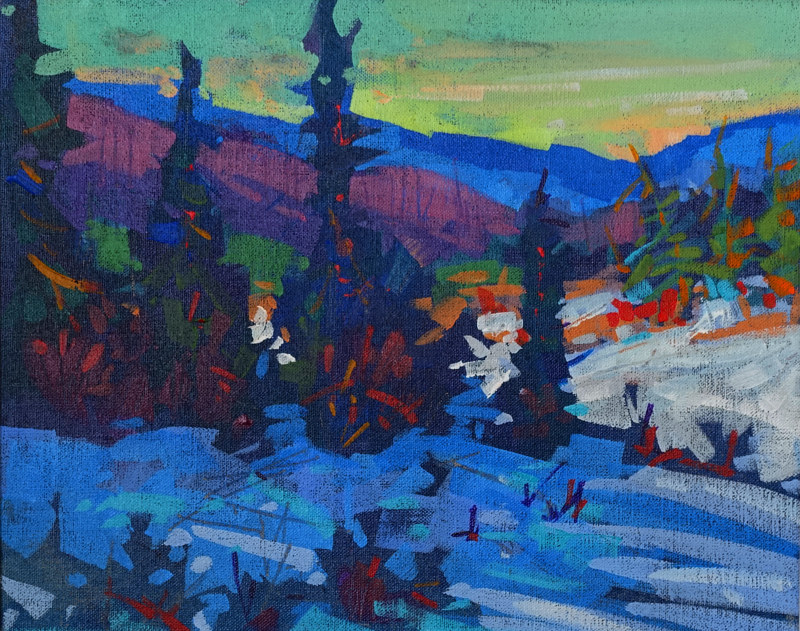 Mid Winter Morning Acrylic 11x14 2015 by Brian  Buckrell