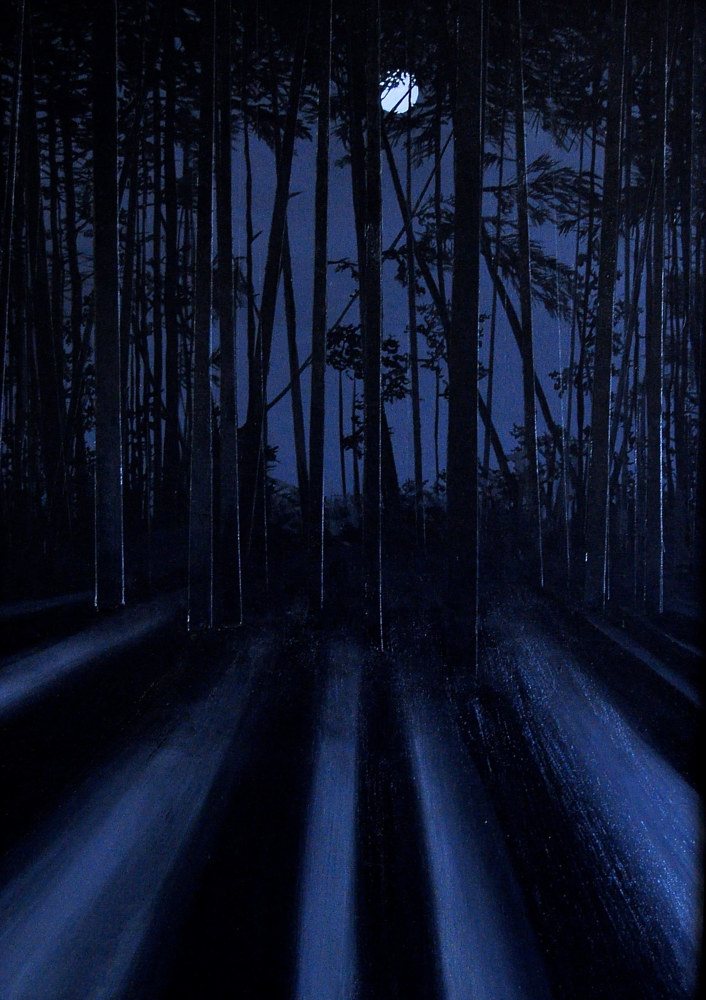 Oil painting Midnight Moonlinght, 2 by Meghan Sims