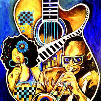 Painting Jazz Life by Angela  Green