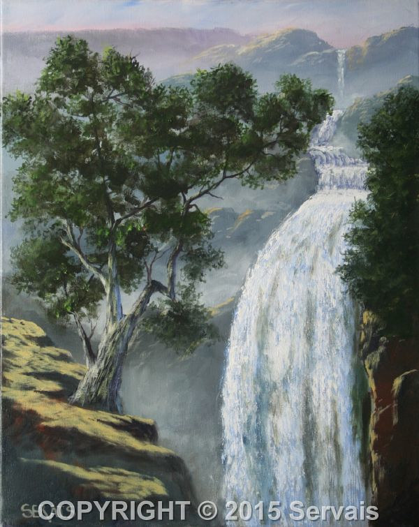 Acrylic painting Canyon Falls by George Servais