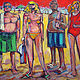 Acrylic painting Beach regulars by Allen  Wittert