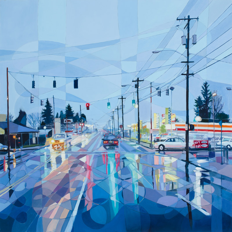 Oil painting SE 82nd no.2 by Shawn Demarest
