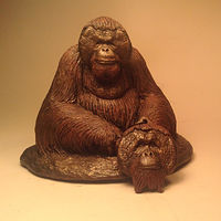 Sculpture Christopher orangutan sculpture pendant combo bronze finish by Jason  Shanaman