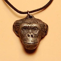 Stryker pendant cold cast pewter by Jason  Shanaman