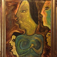 Four Women Looking by Bernard Scanlan