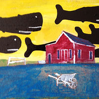 Acrylic painting Whale Farm by Bernard Scanlan