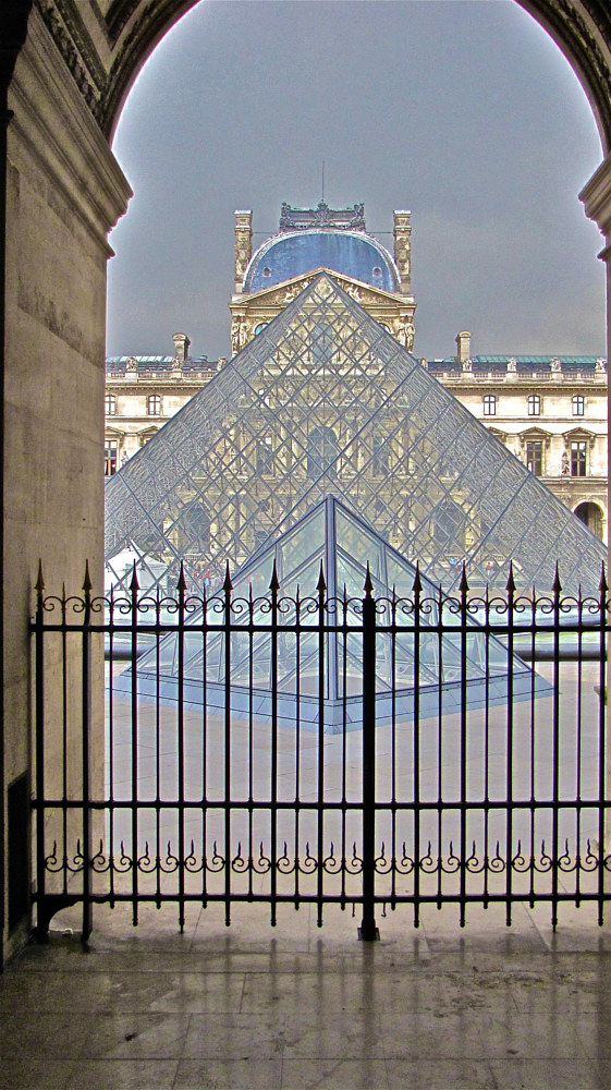 GLASS PYRAMID LE LOUVE by Joeann Edmonds-Matthew