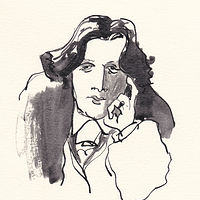 Drawing Oscar Wilde by Graham Hall