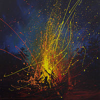 Acrylic painting Fire Focus by Bryan  Coombes