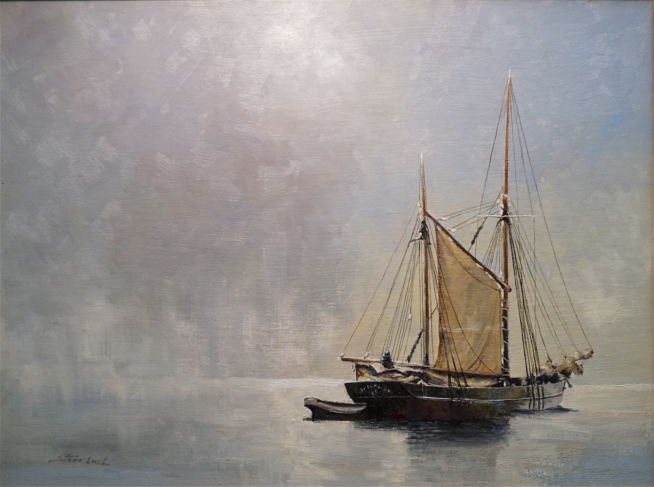 Oil painting The Anchorage by Nella Lush