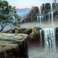 Acrylic painting A Lost World by George Servais