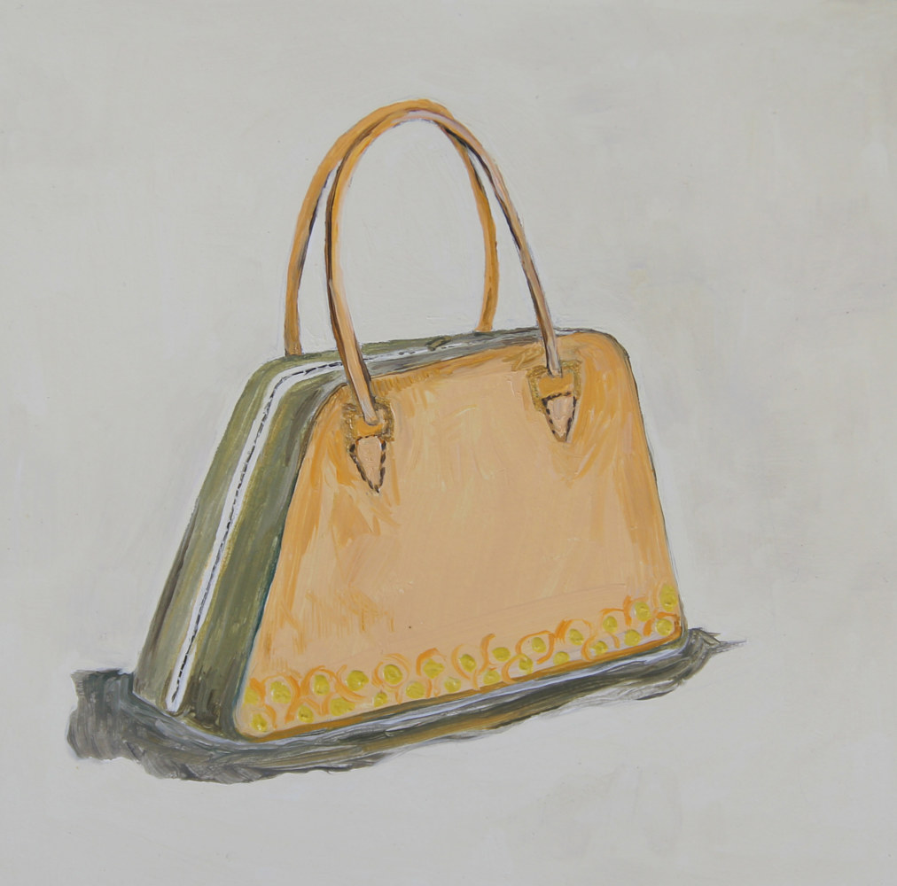 Oil painting little tan case by Katherine Bennett