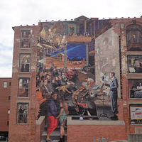 Essex Street Gateway Mural by Jeff Grassie