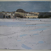 Acrylic painting 10 Saved Acres, January by Harry Stooshinoff