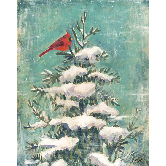 Print Cardinal in Winter C-112 by Cody Blomberg