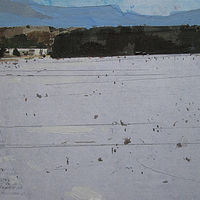 Acrylic painting Ice Field by Harry Stooshinoff