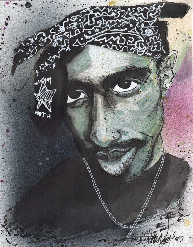 tupac  by Joey Feldman
