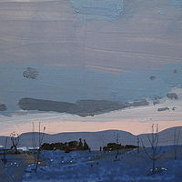 Acrylic painting Evening Comes by Harry Stooshinoff