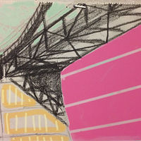 Print GW Bridge and Pink Stripes by Edward Miller