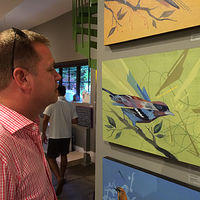 Bird watching at Roan & Black by Robert Porazinski