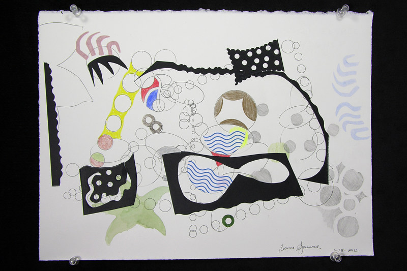 Watercolor Untitled 1-18-12 by Pat Auterieth