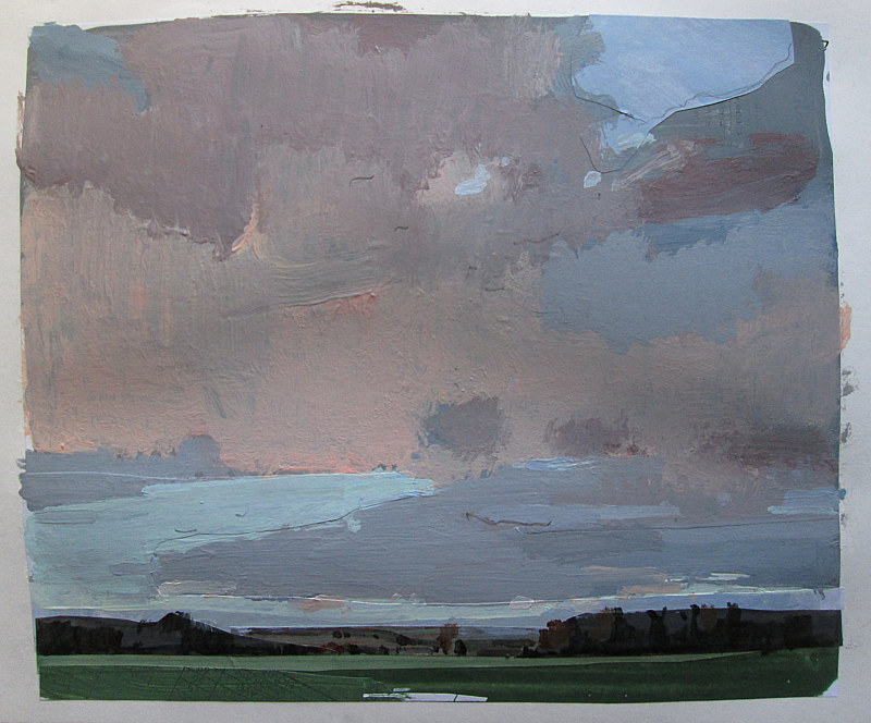 Acrylic painting Last Light, February 2 by Harry Stooshinoff
