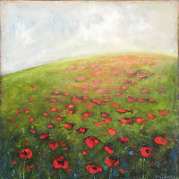 Acrylic painting Mystic Poppies by Sally Adams