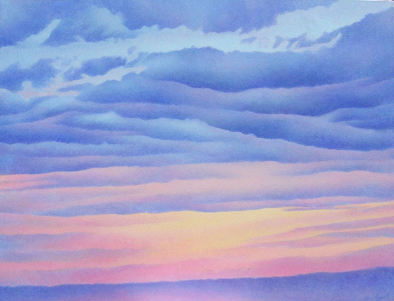 Acrylic painting Cloudbank by Anne Popperwell