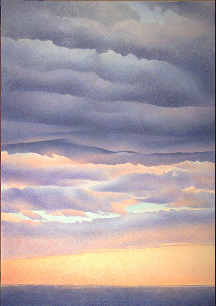 Acrylic painting Storm Clouds by Anne Popperwell